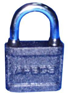 Замок навесной Апекс PD-03-50 (BC350) чугун,дуж(d=8),резин кольца,авт,3англ кл