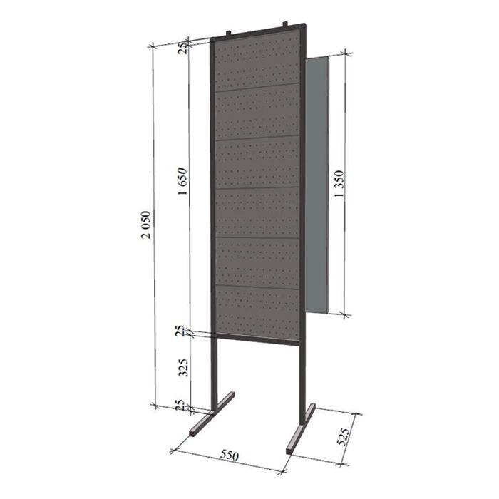 СТЕНД для замков и фурнитуры «ЧИБИС» 2050*550**500 с боковой панелью